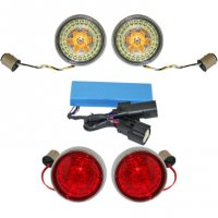 TURN SIGNAL CONVERSION KITS PROBEAM BULLET BEZEL - CUSTOM DYNAMICS
