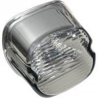 Drag Specialties Smoke Laydown Taillight Lens w//Top Tag Window 2010-0778