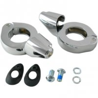 TURN SIGNAL FORK CLAMPS WITH SHROUD - DRAG SPECIALTIES