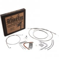 HANDLEBAR CABLE AND LINE KITS BRAIDED STAINLESS STEEL - BURLY