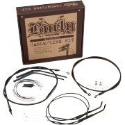HANDLEBAR CABLE/LINE INSTALLATION KITS BLACK VINYL - BURLY